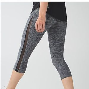 Lululemon Mesh-Panel Crop Leggings